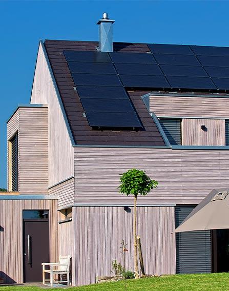 Holzhaus modern Ressourcen schonend