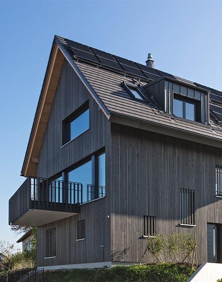Holzhaus vollverkleidet edel modern
