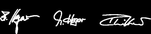 Unterschriften Geschäftsführer Holzhaus Familie Hegar